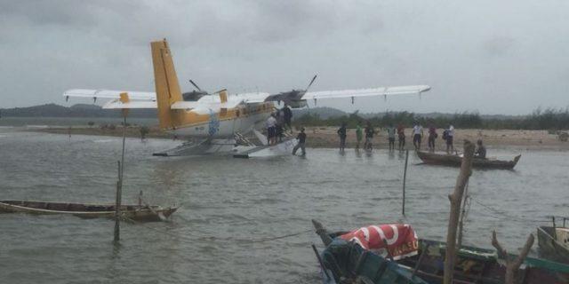 Pesawat Airfast Mendarat Darurat di Laut Ocarina