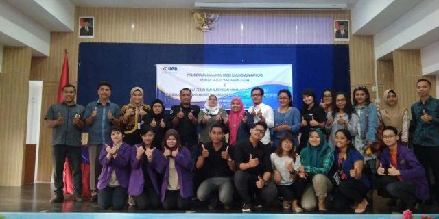 IWO Kepri tandatangani MoU dengan Prodi Ilmu Komunikasi UPB Terkait Pelatihan Jurnalistik Online