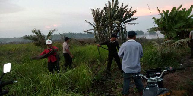 Lahan warga Kampung Baru Desa Sungai Gayung Kiri Ludes Terbakar