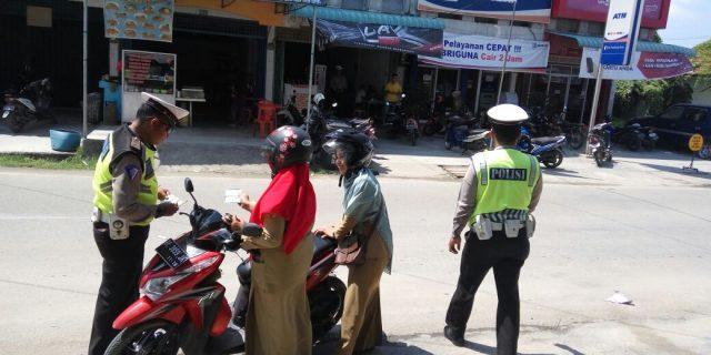 Polsek Kundur Tertibkan 30 Pelanggar Lalu Lintas