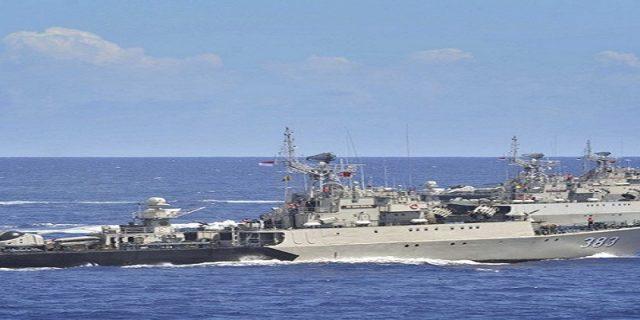 Uji Kemampuan Tempur,TNI AL Kerahkan 23 Kapal Perang di Selat Malaka