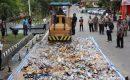 Polresta Barelang Musnahkan Ribuan Miras